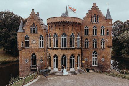 bruiloft in de kasteel wissekerke België