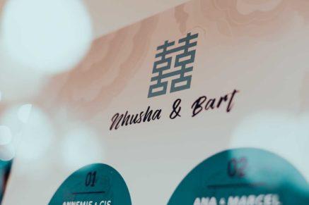 poster voor bruiloft met namen